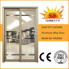 Double popolare Leaf Model Aluminium Door con Glass (SC-AAD064)