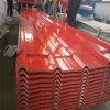 Hojas de acero revestidas galvanizadas del material para techos del color acanalado