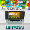 Witson S160 para Citroen C4l/Ds4 Car DVD GPS Player com o Espelho-Link de Core HD 1024X600 Screen 16GB Flash 1080P WiFi 3G Front DVR DVB-T do quadrilátero Rk3188 (W2-M241)