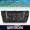 Toyota Corolla 2014 라디오 Navigitaon (W2-D8156T)를 위한 Witson Windows