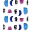 Autoadesivi variopinti del chiodo degli autoadesivi di arte del chiodo dell'acqua della decalcomania della piuma di modo