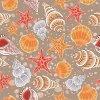 Красивейшая ткань печати Seashell и Starfish в ткани сатинировки