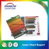 Tarjeta de color de madera por impresión de offset de color completo