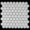동양 백색 대리석 모자이크 타일 6각형 디자인