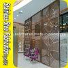 Partición decorativa de la pared del acero inoxidable del metal del diseño de Customed