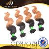 2개의 색깔 Virgin 브라질 Remy 바디 파 머리