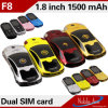 A sustentação dupla QQ do cartão do estilo o mais barato SIM dos esportes do telefone da barra do OEM F8 do telefone, MP3, por muito tempo da espera 7 das cores mini Porsche telefone da G/M