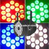 18X10W RGBW 4in1多色LEDの標準はライトを上演できる