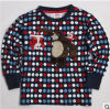 2014 lo Spring e il Autumn Period e il T-Shirt di Bear Boy dell'orsacchiotto di Point Embroidery Cotton Long Sleeve Lovely del new wave di The