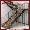 En forma de U Escalera Escaleras de madera de acero (DMS-3034)