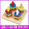 2014 Kids novo Wooden Toy Stacking e Shape Puzzle, Popular Children Toy Stacking, Hot Sale Wooden Preschool Toy Stacking W13e015