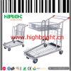 Chariot pliable à usage moyen à main d'entrepôt de supermarché
