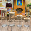 Preço de Fábrica Cobertura Quente de Madeira de Natureza Cobertura de Vidro Glass Spice Storage Glass (100019)