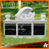 Baby Angel em White Carrara Marble Black Granite Base