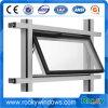 Nueva ventana de cristal de aluminio del toldo/ventana colgada superior de aluminio/ventana de la pared de cortina