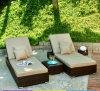 Кровать T520 Sun Lounger/ротанга Sun Wicker/ротанга стула Lounger плавательного бассеина пляжа напольная