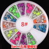 새로운 Design Nail Art Decoration Stickers Metallic Stud Hot Candycolour Rivet Pentagram Design 5mm