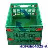 600*400*280mm 24 contenitori di plastica pieghevoli di distribuzione  di X16  X11  con il coperchio provvisto di cardini
