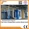 Mono cabina de aerosol de Cylcone del cambio de acero del color rápido