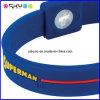 Kundenspezifische Supermann-Zeichen-Leistung-Energie-Silikon-Hologramm-Armbänder