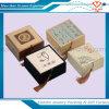 Caja de regalo de lino de lujo clásica de la caja de joyería de la cubierta con la borla