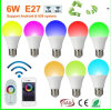 2015 최신 Selling LED Bulb RGB A60 6W Smart Remote Controller LED Light