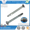 Carbonio Steel Flat Head phillips Self Drilling Screw con Wing