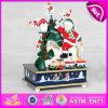 2015 деревянных продуктов игрушки нот рождества, коробка нот украшений рождества, оптовая продажа W07b016A коробки нот песни высокого качества изготовленный на заказ