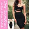 Reizvolles geöffnetes zurück herrliches Cocktailparty-Kleid-Kurzschluss-Verband-Kleid