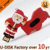 크리스마스 선물 USB 섬광 드라이브 PVC 주문 USB 디스크
