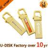 USB personalizado do logotipo do disco instantâneo do gancho USB3.0 do metal do ouro (YT-3258-03GY)