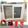 UPVC doppeltes glasig-glänzendes schiebendes Fenster mit Moskito-Netz