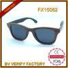 Óculos de sol de madeira Fx15082 da zebra por atacado elegante a mais quente de Polariod