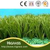 Herbe artificielle synthétique de couvre-tapis de jardin de gazon vert du football