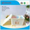 Сверхмощный сильный удар пластичной коробки хранения 65L с крышками и колесами ручек для продуктов домочадца