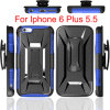 Belts Clip Kickstand Combo Cases para Apple iPhone 6 Plus