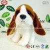 Juguete suave del perrito lindo animal del perro de la felpa grande de los oídos que se sienta