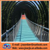 ステンレス鋼の吊り橋の柵ロープの網/AISI 304/316の適用範囲が広いステンレス鋼ワイヤーロープの網