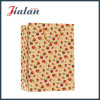 Brown Kraft Paper Printed Small Flowers Shopping Sac à papier cadeau