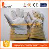 Перчатки Спилковые Комбинированные Пятипалые Рабочие Перчатки (DLC217)