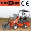 800kg Everun Mini Front Extrémité Wheel Loader avec New Grapple Forks/New Wooden Forks