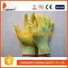 Желтая перчатка работы PU покрытая Nylong (DPU133)