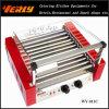 方法Durable Sausage Machine、Curve Glass CoverのセリウムApproved (WY-011C)の11 Rollers Electric Hot Dog Grill