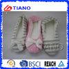Deslizadores internos das mulheres mornas de lã laterais das sapatas do inverno da emenda (TNK20292)