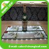 Estera de goma modificada para requisitos particulares promocional de la botella de cristal del último estilo que destella reutilizable
