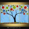 Gespleten Olieverfschilderij, Reeks van 3 Comités