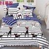 Reagierende gedruckte Bettwäsche der Baumwolle4pcs
