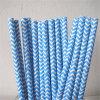 Rayado Chevron azul 100% Ecológico Papel paja