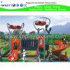 Campo de jogos ao ar livre pequeno ajustado com desenhos animados e telhados (HK-50027B)