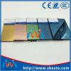 Espace libre, bronze, bleu, vert, gris, rose, glace r3fléchissante de construction d'or